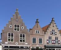Dutch historic facades stock photos