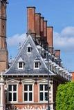 Dutch Historic House Facade. Distinctive historic Dutch facade gevel in Haarlem, the Netherlands Royalty Free Stock Photos