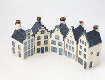 Dutch historical ceramic houses in Delft china Stock Image