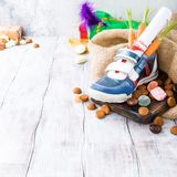 Dutch holiday Sinterklaas composition Stock Photography
