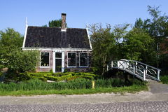 Dutch house. An old dutch house with blue sky Royalty Free Stock Photography