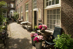Dutch houses in Amsterdam Stock Images