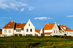 Dutch houses. Architect's modern interpretation of historical, old style Dutch houses in the provincial town of Den Helder in the Netherlands Stock Photos