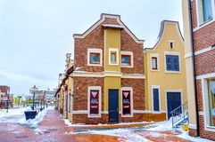 The Dutch houses in Kiev Royalty Free Stock Images