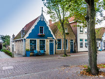 Dutch houses on Vlieland island, Netherlands Royalty Free Stock Photo