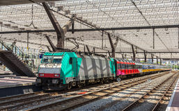 Dutch intercity train on Rotterdam station Stock Photography