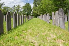 Dutch-Jewish Cemetery: main part in Diemen cemetery Royalty Free Stock Photos