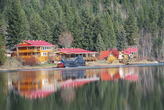 Dutch Lake BC. Dutch Lake, BC is nestled in the valley along side the community of Clearwater BC Royalty Free Stock Photo