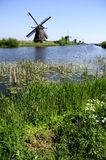 Dutch landscape. Famous Dutch landscape at Kinderdijk in the Netherlands Stock Photography