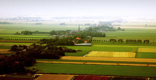 Dutch Landscape from the air Royalty Free Stock Image