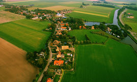 Dutch Landscape from the air Stock Images