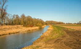 Dutch landscape at the end of the winter season royalty free stock photography