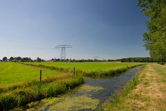 Dutch landscape in Friesland Stock Photography