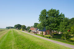 Dutch landscape in Friesland Stock Photo