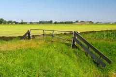 Dutch landscape in Groningen Stock Photography