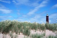 Dutch landscape lighthouse Stock Image