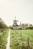 Dutch landscape with mill Stock Image