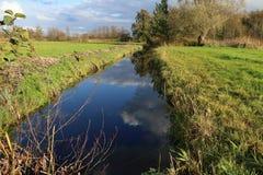 Dutch landscape in Overijssel. Typical dutch landscape in the Wierden Overijssel royalty free stock photo