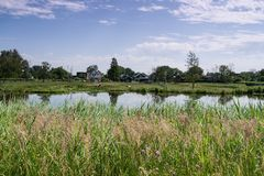 Dutch landscape. Small town in the Netherlands lots of nature royalty free stock photography