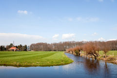 Dutch landscape in spring Royalty Free Stock Photos