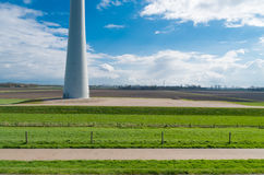 Dutch landscape with windmill Stock Photo