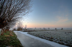 Dutch Landscape With Windmills Royalty Free Stock Images