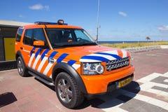 Dutch lifeguard Land Rover Stock Photo