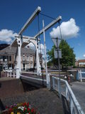 Dutch lift bridge Royalty Free Stock Photos