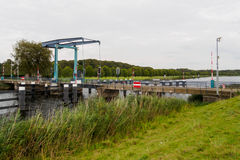 Dutch lifting bridge Stock Images