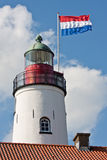 Dutch lighthouse. Lighthouse of Urk, fishing village in the Netherlands royalty free stock photography