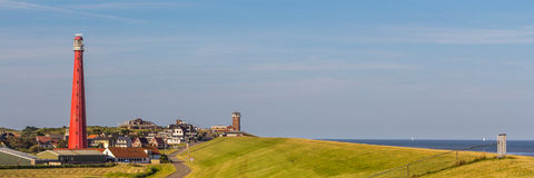 Dutch Lighthouse in Den Helder. Lighthouse at the coast of Den Helder in Northern Holland stock image