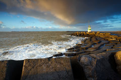 Dutch lighthouse in IJmuiden Stock Photos