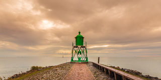 Dutch lighthouse in the province of Frisia Stock Images