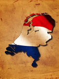 Dutch map with flag Stock Photos