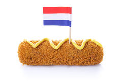 Dutch meat croquette isolated on white Stock Image