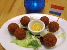 Dutch meatball , beef , meat. Dutch meatball  meat  beef  HOLLAND NETHERLANDS Stock Photos