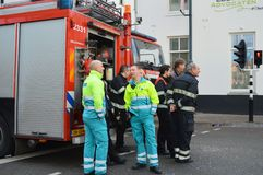 Dutch Medical personal and firemen Stock Photography