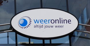 Dutch meteorology company. Weeronline is a Dutch meteorology company providing weather forecasts via the internet Stock Photos