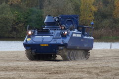 Dutch military police armored vehicle - Koninklijke Marechaussee (KMar) Stock Image