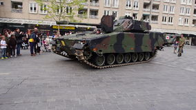 Dutch military vehicle stock video footage
