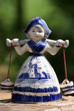 Dutch milk girl. Statuette of a Dutch milk girl Royalty Free Stock Image