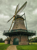 Dutch Mill. Dutch vintage mill on a cloudy day Stock Photography