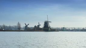 Dutch mills in Holland 4K stock footage