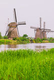 Dutch mills in Kinderdijk, Netherlands Royalty Free Stock Image