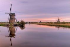 Dutch mills in Kinderdijk Royalty Free Stock Image