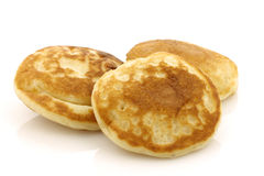 Dutch mini pancakes called poffertjes Royalty Free Stock Images