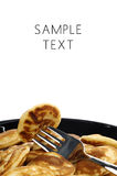 Dutch mini pancakes called poffertjes Royalty Free Stock Photo