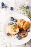 Dutch mini pancakes called poffertjes Royalty Free Stock Photos