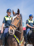 Dutch mounted police Stock Photo