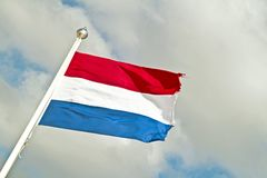 Dutch national flag from the Netherlands Stock Photos